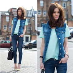 How to wear: the denim vest