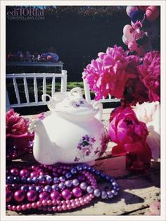 Stella�s 4th Birthday Soiree- cute tea party- love the plastic necklaces