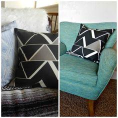 Kemley Design: DIY Throw Pillows with Nate Berkus Fabric