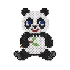 Panda Bügelperlen Bild  Leicht zu machen/ its easy   Subscribe me on YouTube: emibeautx   ❤️❤️❤️❤️❤️❤️