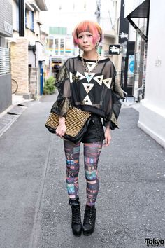Ena is a friendly Harajuku girl whose look caught our eye right away! She successfully mixes items from Harajuku's coolest shops (Dog Harajuku, Avantgarde, Bubbles) with Forever 21.