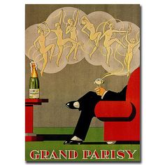 Grand Parisy-Gallery Wrapped 18x24 Canvas Art