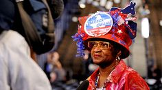 Festive hats at the Democratic National Convention