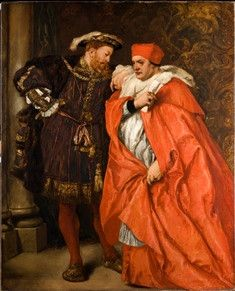 Henry VIII with Cardinal Wolsey.