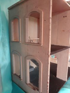 Antique Four Room Doll House with Interior Stairs and Arched Windows from jackieeverett on Ruby Lane