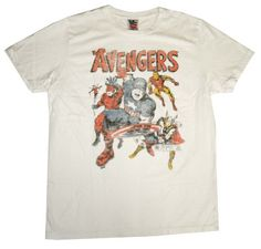 The Avengers Team Marvel Comics Vintage Style Junk Food T-Shirt Tee The Avengers http://www.amazon.com/dp/B008K7ZNWU/ref=cm_sw_r_pi_dp_GrNHub016D0HC