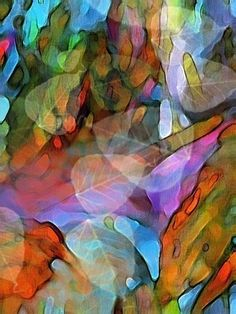 Colorful Abstract Nature Scene  Waterdance  Art by Art2ArtColorado, $25.00