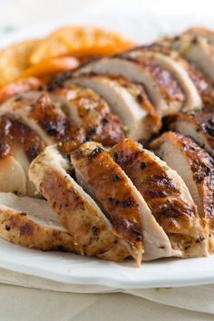 Roasted Rosemary Orange Turkey Breast Recipe from www.inspiredtaste.net #recipe #turkey #thanksgiving