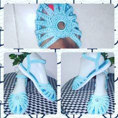 Sandalia tejida. Hecho a mano✋ #tejeresunplacer #tejidoamanoparati #innovacrochet #crochetaddict - patyartesanal