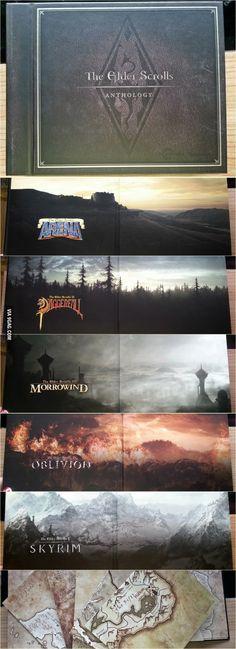 Now look at this beauty. Elder Scrolls is love. Elder Scrolls is life. Arena. Daggerfall. Morrowind. Oblivion. Skyrim.