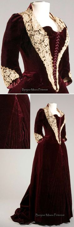 Dinner dress, French, ca. 1880s. Photos: Michael J. Shepherd. Drexel Univ. Historic Costume Collection via the Broad St. Review
