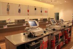 UNIQLO-SM-City-Fairview-Cashier Uniqlo, Desk, Furniture, Lingerie, Home Decor, City, Shop, Desktop, Decoration Home