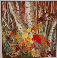 Autumn Birches by Pat Bruno
