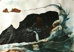 Zonder titel, 2016, 33 x 46 cm, gemengde techniek op papier