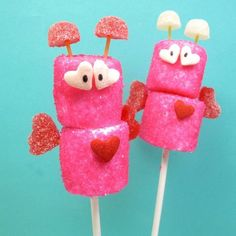 Marshmallow Love Bugs: Guaranteed to make your kids squeal in delight, The Decorated Cookie's marshmallow love bugs use gumdrops, marshmallows, and sprinkles to create the cutest edible bugs around.