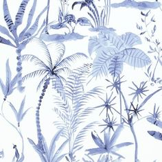 Natural desert tropics wallpaper is a nice look into a tropical paradise with a wide range of different natural greenery. This wallcovering is incredibly versatile for many different residential or commercial spaces. Order a FREE sample today! Kids Wallpaper, White Wallpaper, Wallpaper Roll, Wall Wallpaper, Wallpaper Designs, Wallpaper Gallery, Bathroom Wallpaper, Wallpaper Ideas, Tropical Wallpaper