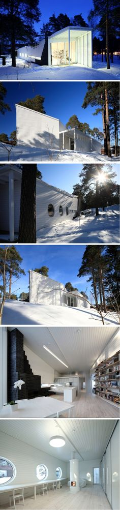 """The Finnish sculptor and architect Marco Casagrande latest architectural creation called """"Apelles"""". This family home is located in the natural park of Karis"""