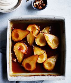 Roast pears with maple syrup and vanilla crème fraîche : : Australian Gourmet Traveller