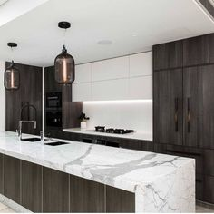 Coco Republic Interior Design enhances this contemporary kitchen with the Syphon Pendant Lights. Kelly Green Kitchen, Green Kitchen Island, Contemporary Kitchen Design, Modern Design, Dream Home Design, House Design, Kitchen Storage Solutions, Küchen Design, Design Ideas