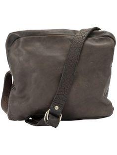 Guidi multiple zipped pockets crossbody bag