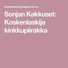Sonjan Kakkuset: Koskenlaskija kinkkupiirakka Bakery, Eat, Food, Horse Art, Essen, Equine Art, Meals, Yemek, Eten