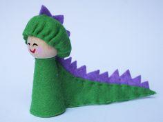 wood/needle felted dinosaur- I bet I could make a dinosaur!
