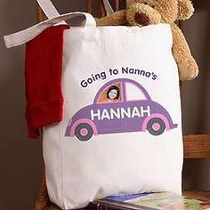 Personalized Photo Tote for Sleepovers