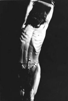 eroticmisery:   Hijikata Tatsumi inNikutai no hanran(Rebellion of the Body, 1968) Photo by Torii Ryozen  TATSUMI HIJIKATA'S GOLDEN PHALLUS