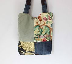 Market bag | antique french fabric | roxy creations | handbags | overnight bags | sewing bags | unique gifts | handmade gifts | diaper bag