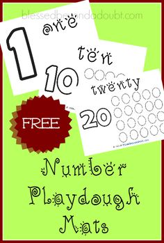 Print these FREE number playdough mats that teaches number recognition and counting!