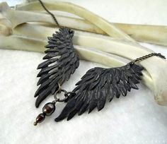Thieving Magpie -- Handmade Necklace in a Choice of Bronze or Brass.   Ooooooo! And I've been a fan of her work for ages, she's a very nice lady :-)