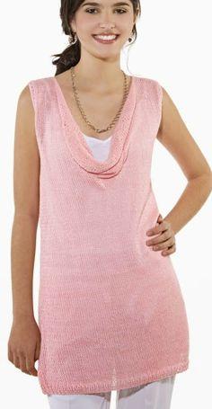 Receita de Tricô: Túnica verão rosa em tricô