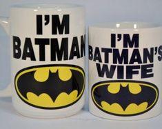I'm batman and i'm batman's wife,funny mugs,funny coffee mugs,wife gift,custom…
