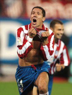 EL CHOLO, DIEGO PABLO SIMEONE Atlético de Madrid - 1995-96)