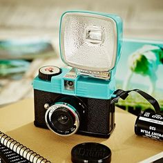 Diana Mini & Flash Lomography Black & Blue Top Camera on pbteen.com. LOVE.