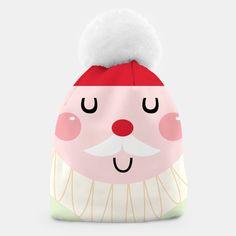 Amazing Beanie with Happy Santa, Live Heroes Unique Image, Beanies, Santa, Make It Yourself, Live, Amazing, Creative, Happy, Shop
