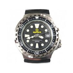Gents 500 metre dive watch - polyurethane strap Add Gift Wrap for Free One of the toughest watches on the market. Tested to 500 metres. Displays minutes, hours