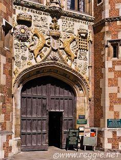 U.K. Front entrance to St. John's College, Cambridge // Reggie Thomson's photography blog
