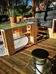Lounge Aus Paletten Mit Palettenkissen U2013 Palettenmöbel DIY