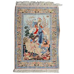 Isphahan Pictorial Rug #auctions #michaans http://www.michaans.com/highlights/2017/highlights_04082017.php