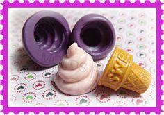 Ice Cream Mold flexible silicone mold / mould. $7.95, via Etsy.