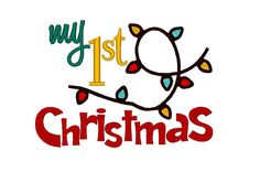 My First 1st Christmas with lights. Instant by SoKyootDesigns
