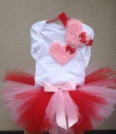 Valentine Outfit Valentine Tutu Toddler Baby by AvaMadisonBoutique
