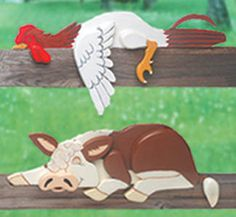 Rooster Hereford Rail Pets Pattern