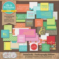 InstaCards - Funktography Edition - $5.16 : Peppermint Creative, Digital Scrapbook Supplies