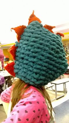 Handmade Crochet Dragon Hat #Handmade #Novelty