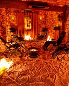 Home Spa Room, Spa Rooms, Spa Day At Home, Salt Cave Spa, Local Massage, Himalayan Salt Room, Spas, Spa Brochure, Underground Homes