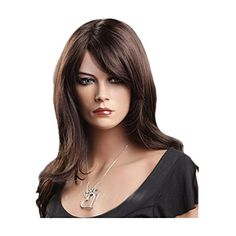 7buy New Fashion Dark Brown Medium Long Womens Curly Wigs Full Hair Style for Party Girls ** Details can be found by clicking on the image.Note:It is affiliate link to Amazon.