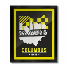 Columbus, Ohio Skyline Poster Print: Wall Art Choose a Size - Crew Soccer by DandWElements on Etsy https://www.etsy.com/listing/251392054/columbus-ohio-skyline-poster-print-wall