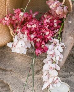 Shades of pink, orchid wedding, beach weddings, MARIA MARGUERITE – Western Cape based wedding and lifestyle photographer Wedding Beach, Beach Weddings, Orchids, Glass Vase, Floral Wreath, Wreaths, Cape, Pink, Shades